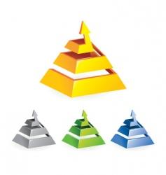 pyramid arrow vector image