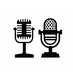 Microphones icon vector
