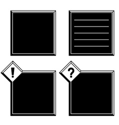 3d black white frames exclamation question mark vector