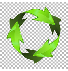 3d recycling symbol vector