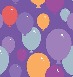 Seamless pattern with balloons purple pink blue vector