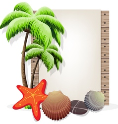 Tropical vacation background vector
