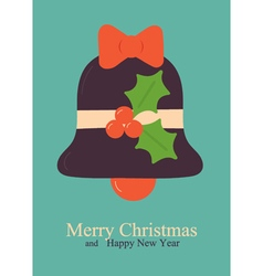 Greeting card with bell vector