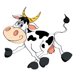 White cow vector