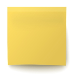 Classic yellow sticky note isolated on white vector