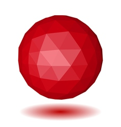Abstract red low polygonal sphere vector image