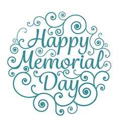 Memorial day card circle typographical vector