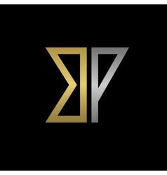 BP letters logo vector image