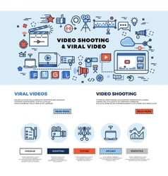 Viral video marketing movie film-making vector