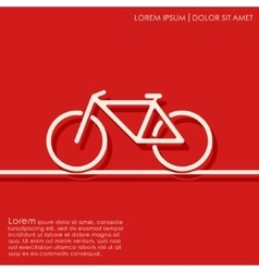 Outline bicycle background vector