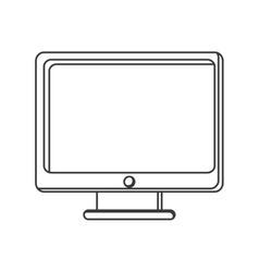 Computer monitor screen icon vector