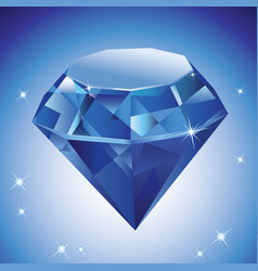 a diamond on blue vector image