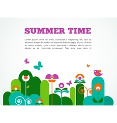 abstract garden summer time vector image