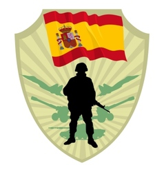 Army of Spain vector image