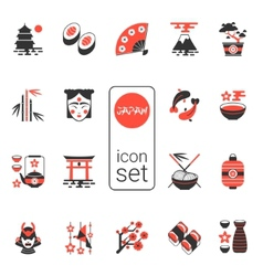Asian icons set - eps 8 vector