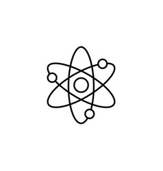 Atom and molecule line icon education and school vector
