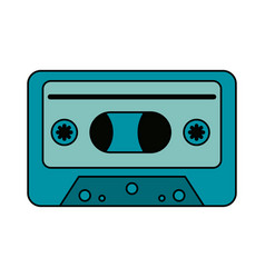 Audio cassette icon image vector