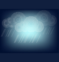 background of cloud computer made of numbers vector image vector image
