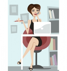 Business woman vector