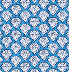 Cartoon diamond background vector image vector image