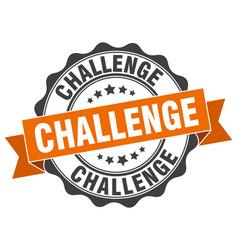 Challenge stamp sign seal vector