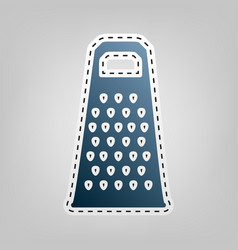 Cheese grater sign blue icon with outline vector