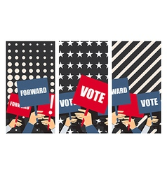 Election poster voters support people with placard vector