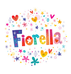 Fiorella girls name vector