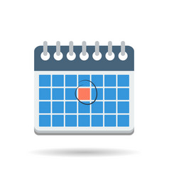 Flat month calendar icon vector