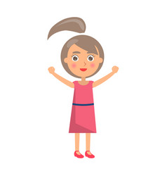 girl celebrates international holiday for kids vector image vector image