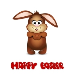 Happy easter cards with bunny vector image vector image