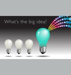 idea Light Bulb Burst vector image vector image