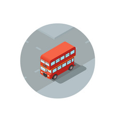 isometric of red double-decker vector image