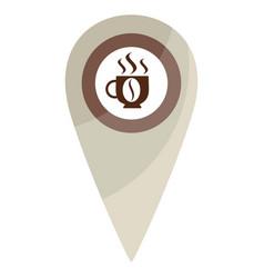 map pin coffe break vector image