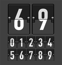 Mechanical timetable scoreboard display numbers vector