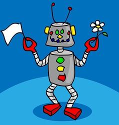 Peaceful robot vector