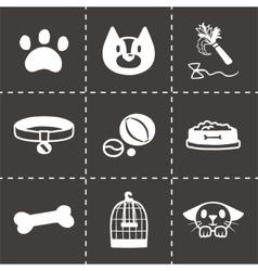 Pet icon set vector image vector image