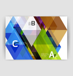print template modern elegant background triangle vector image