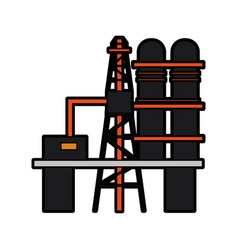 Refinery plant oil industry related icon image vector