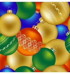 Seamless pattern of Christmas decorations vector image vector image