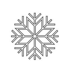 Snowflake ornament icon vector