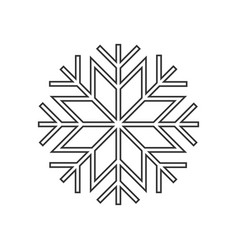 snowflake ornament icon vector image vector image