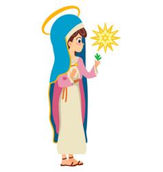 Virgin mary saint mary the mother of god vector