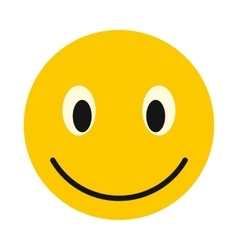 Smiley face icon flat style vector