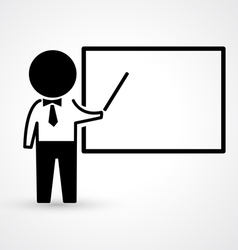 Teacher with blackboard icon vector