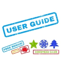 User guide rubber stamp vector
