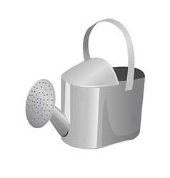 A view of a watering can vector
