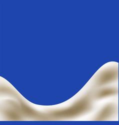 milk or yogurt splash vector image