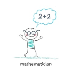 Mathematician thinks about solving the problem vector