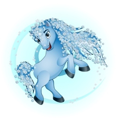 Horse winter vector